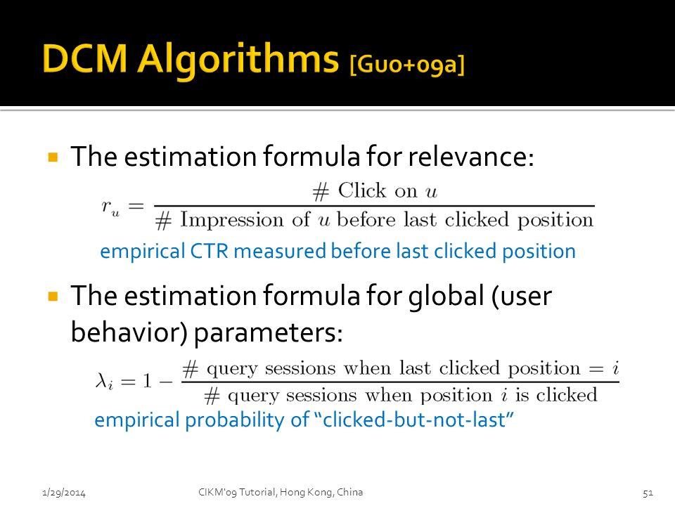 DCM Algorithms [Guo+09a]